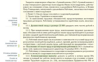 Правила описания в трудовом договоре механизма и порядка оплаты труда принимаемого и действующего работника