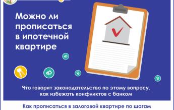 Можно ли прописаться в квартире купленной по ипотеке