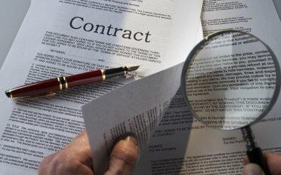 Важные условия договора